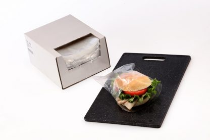 Clear Flip Top Sandwich Bags in Dispenser Box 0.75 mil