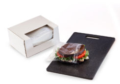 Clear Reclosable Sandwich Bags in Dispenser Box 1 mil