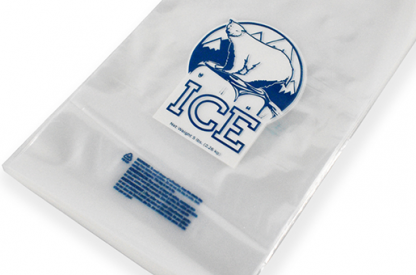 Printed Wicketed Ice Bags 1.5 mil (10 lb) 1000/Carton
