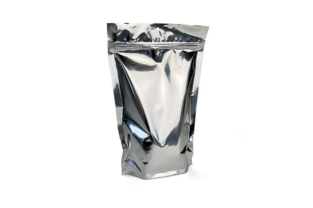 Silver Metallized Stand Up Pouch